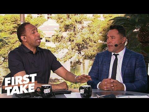 Oscar De La Hoya gives GGG-Canelo prediction, talks presidential run   First Take   ESPN
