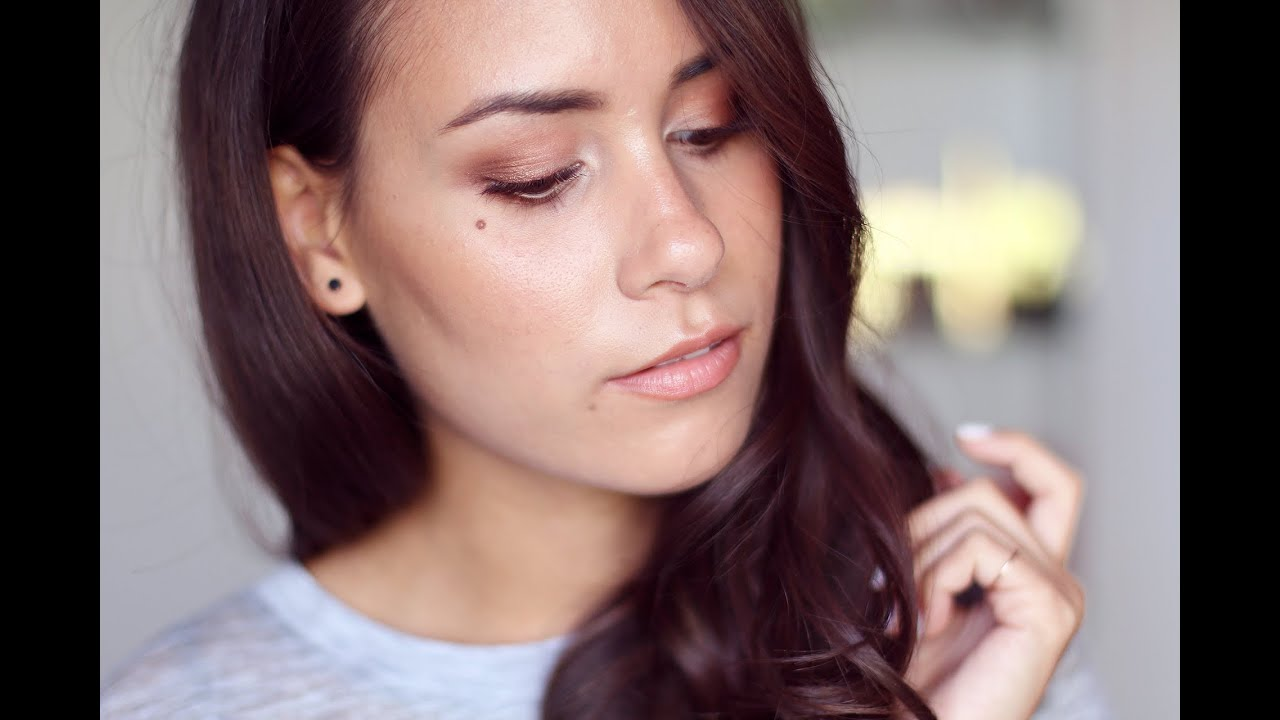 Get Ready With Me Bronze Make Up Look Youtube