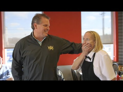 Foundations High School Students give $1500 to Waitress at Steak N Shake