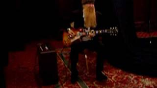 Billy Gibbons Playing A Gibson Pearly Gates Les Paul