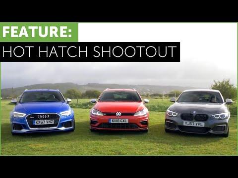 Hot Hatch Shootout - BMW M140i vs Audi RS3 vs VW Golf R w/ Tiff Needell and Ryan Cullen