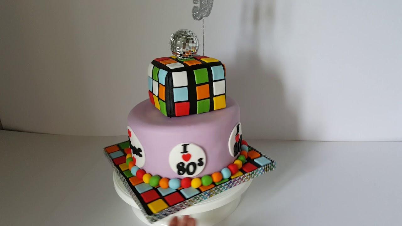 Simply Cakes By Caroline Huddersfield 80s Theme Birthday Cake 2