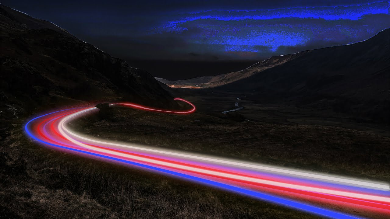 & photoshop cs6/cc Light effect on road photoshop tutorial - YouTube