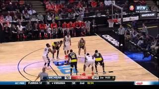 2015 BIG Ten Tournament Second Round Michigan vs. Illinois