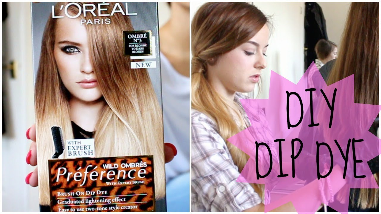 How To Diy Natural Hair Dip Dye Ombre Youtube