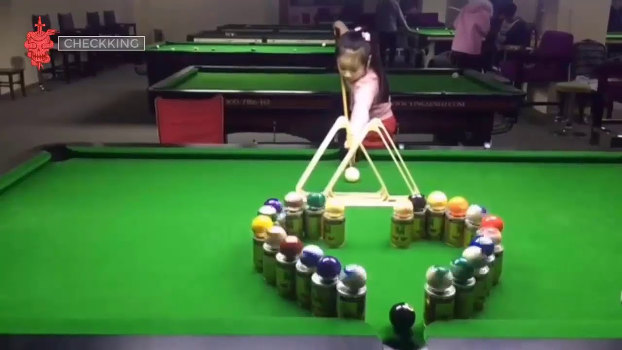 Amazing little girl pool trick shot youtube - Awesome swimming pool trick shots ...