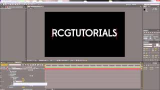 After Effects Tutorial: Kinetic Typography (Fade + Scale Each Letter) -HD-