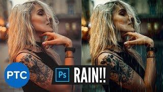 Realistic Rain Effect   Photoshop Photo Manipulation Tutorial screenshot 1