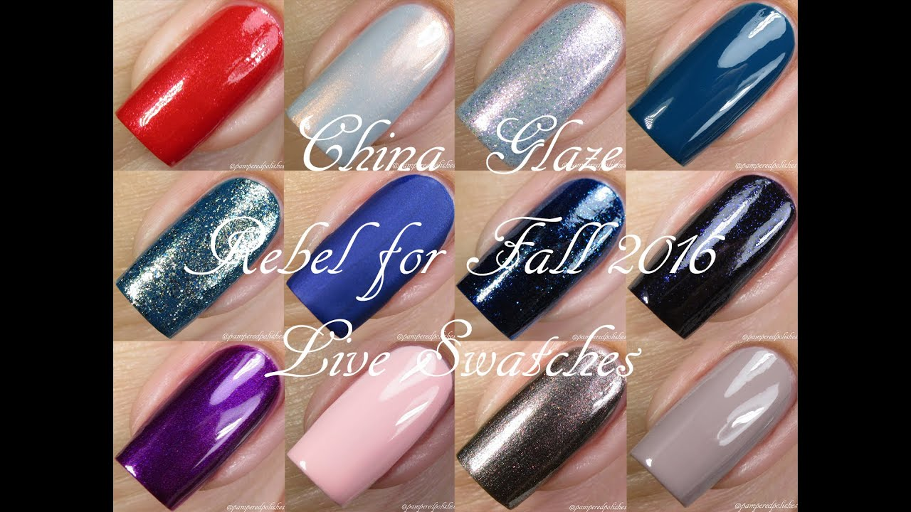 China glaze rebel fall 2016 collection live swatches youtube youtube premium m4hsunfo