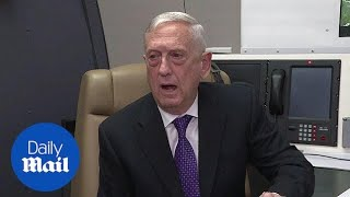 Jim Mattis talks about North Korea, Syria, and the US border - Daily Mail