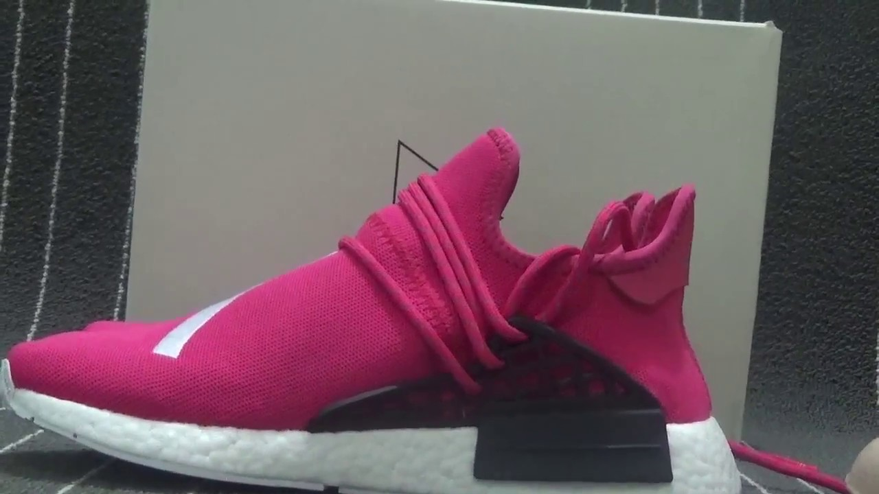 "1f880b6f78099 Adidas NMD Human Race ""Shock Pink"" FROM WWW.FLYSNEAKER.CN - YouTube"