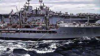Double Underway Replenishment • U.S. Navy