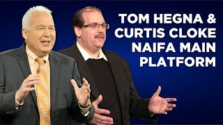 Tom Hegna and Curtis Cloke on the NAIFA Main Platform