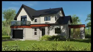 Best Two Story Contemporary House Plan By Drummond House Plans Plan 3723