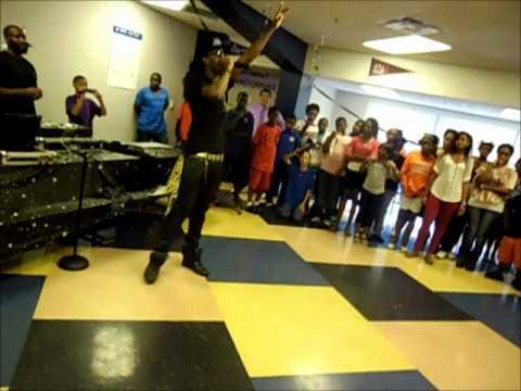 Aquarius suprise performance at Kipp Impact Middle School