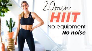 20 MIN HOME HIIT WORKOUT // No equipment, no noise, no impact