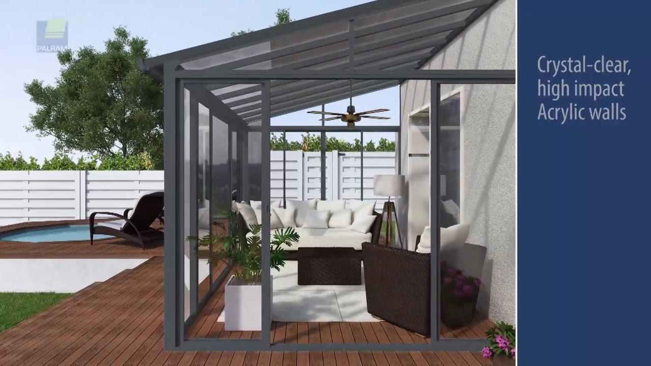 palram 10x14 sanremo patio enclosure kit white