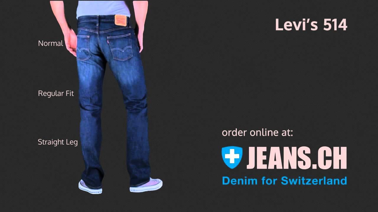 achten Sie auf bester Wert ungeschlagen x Levis 514 Jeans Fit Videos von JEANS.CH