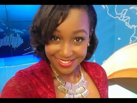 Michael Gitonga gives Betty Kyalo flowers for Valentine's Day on-air