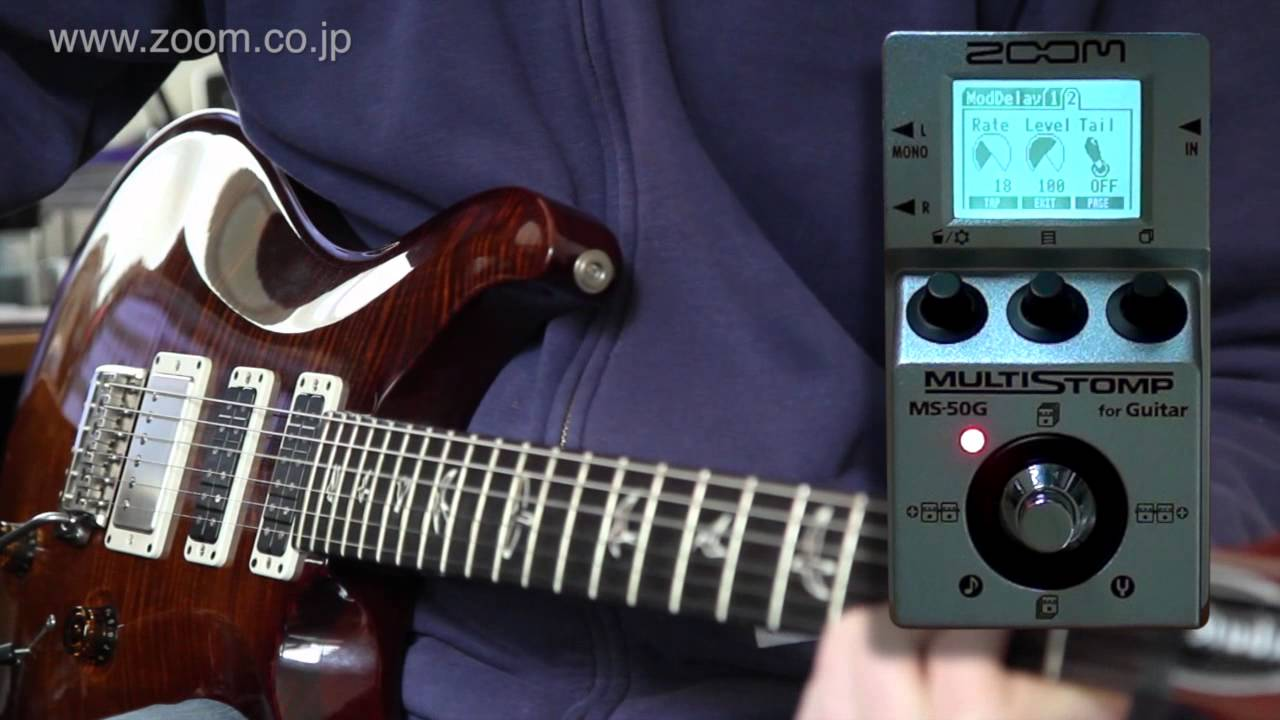 zoom ms 50g multistomp part 3 the ms 50g as regular stompbox youtube. Black Bedroom Furniture Sets. Home Design Ideas