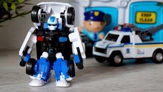 Тобот - Трансформер С. Полицейская машина и робот. Игрушки для мальчиков