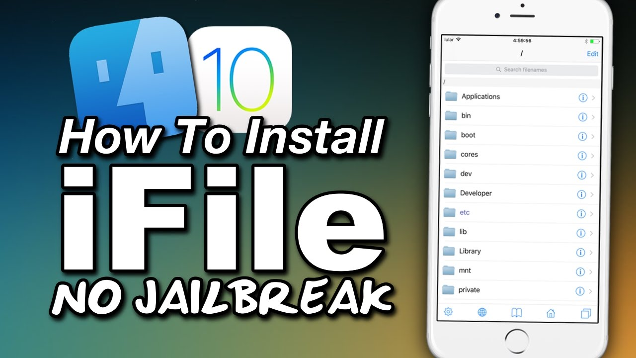 How To Install iFile NO JAILBREAK! On iOS 10 - Browse Your iOS File System!