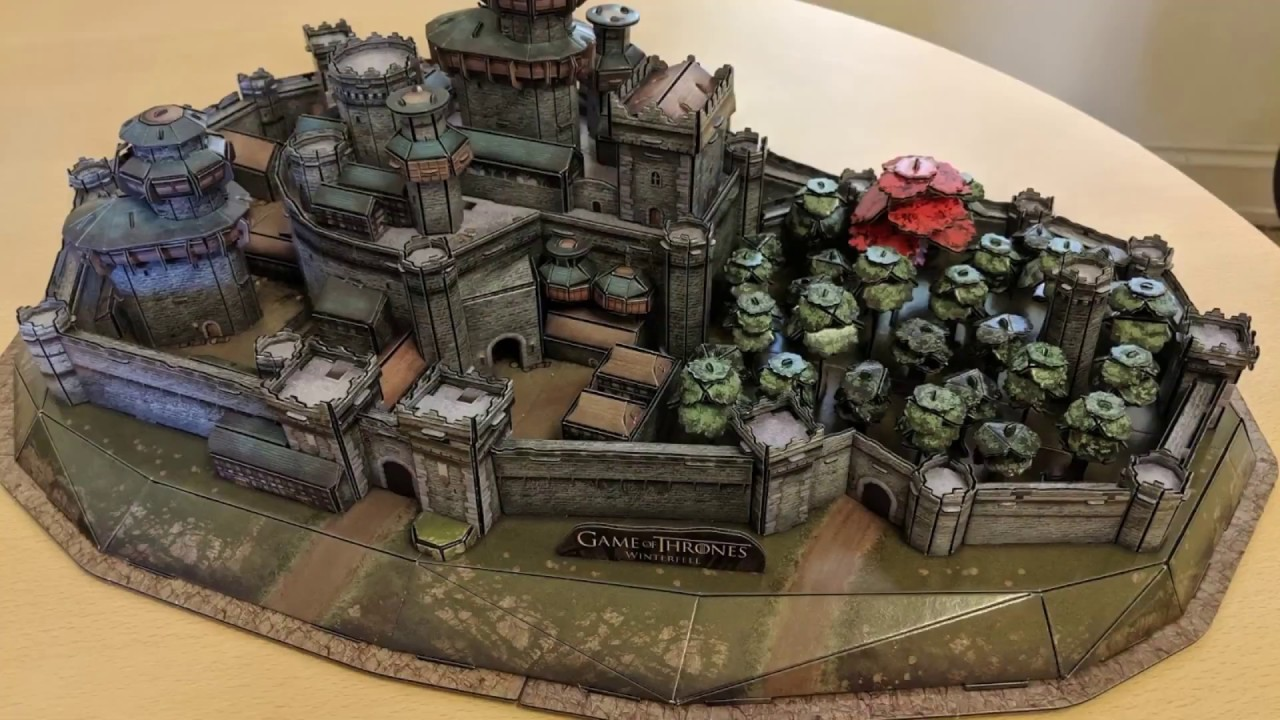 Building The Winterfell Game Of Thrones 3d Puzzle Youtube