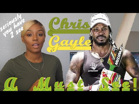 Clueless new American cricket Fan Reacts to Chris Gayle Cricket Try Highlights