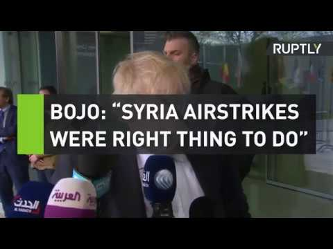 """BoJo: Syrian airstrikes were """"right thing to do"""""""
