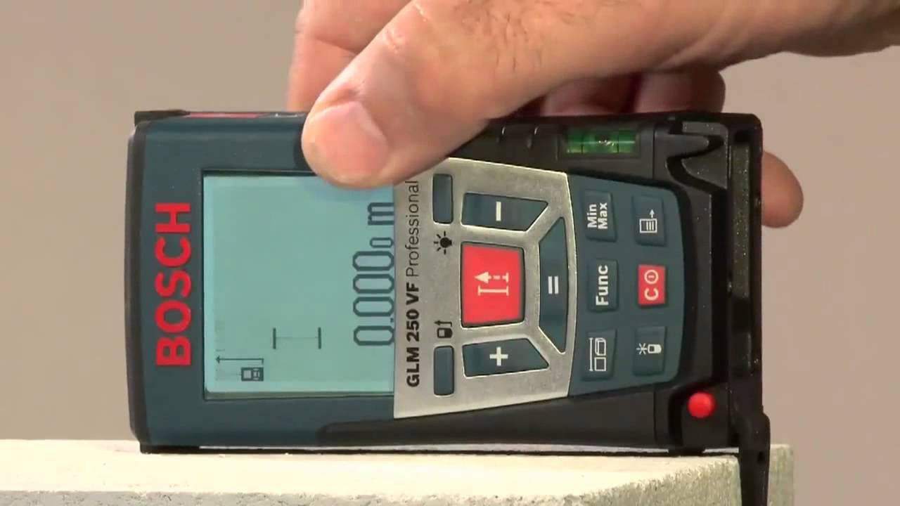 Laser Entfernungsmesser Bosch Glm 250 Vf : Laser entfernungsmesser bosch glm vf layer grosshandel youtube