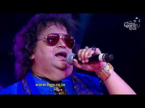 "Bappi Lahiri singing ""Yaad Aa Raha Hai""@54th Bengaluru Ganesh Utsava"