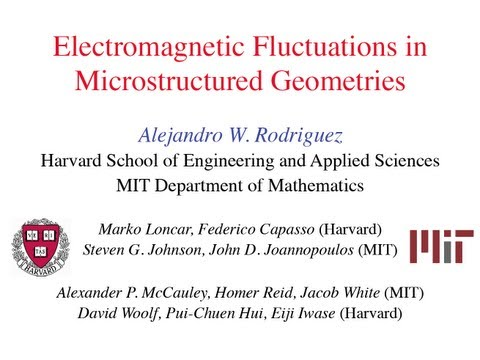 DOE CSGF 2011: Understanding electromagnetic fluctuations in microstructured geometries