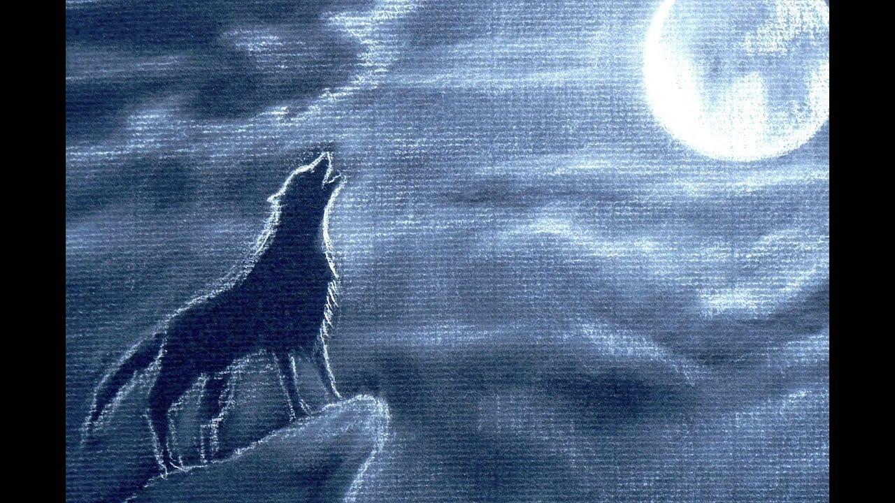 Cómo Dibujar Un Lobo Aullando De Noche Arte Divierte Youtube