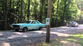 67 Ford Fairlane gets pulled by 65 Ford Galaxie