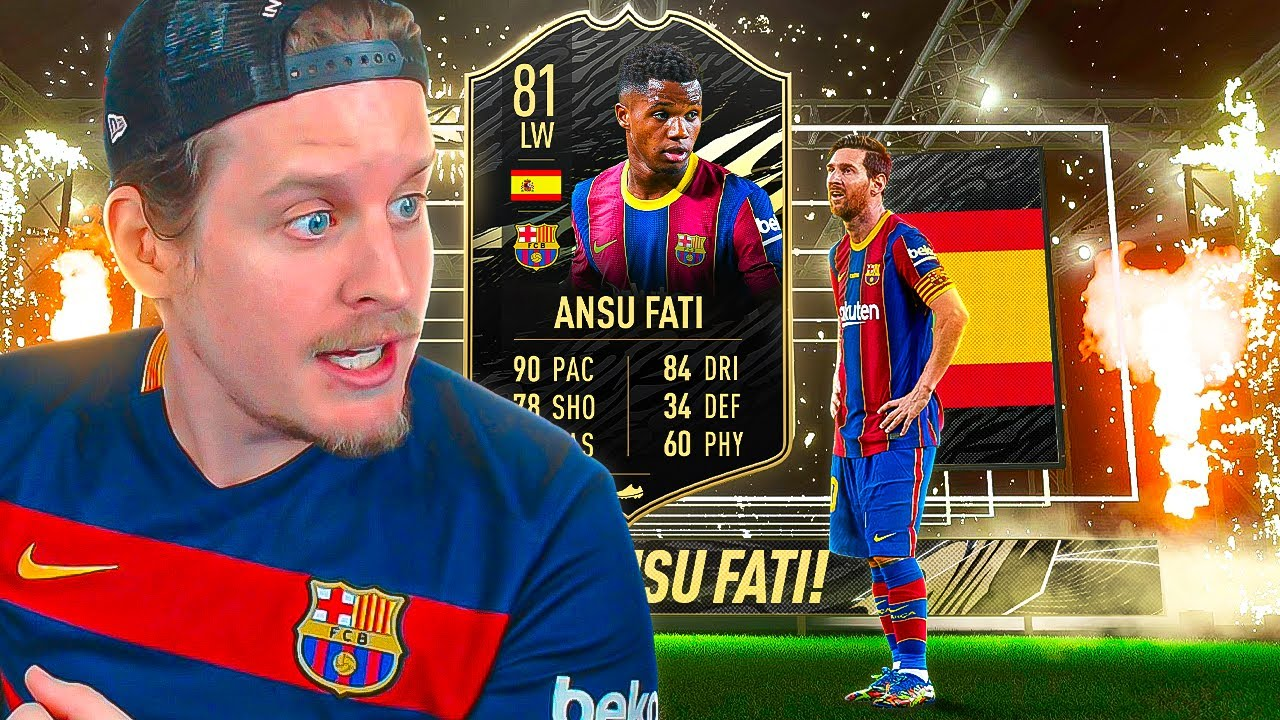 THIS CARD IS CRACKED! 81 INFORM ANSU FATI PLAYER REVIEW! FIFA 21 Ultimate Team