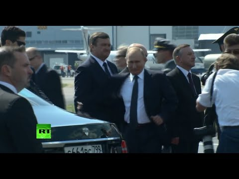 Putin arrives at Presidential Palace in Helsinki