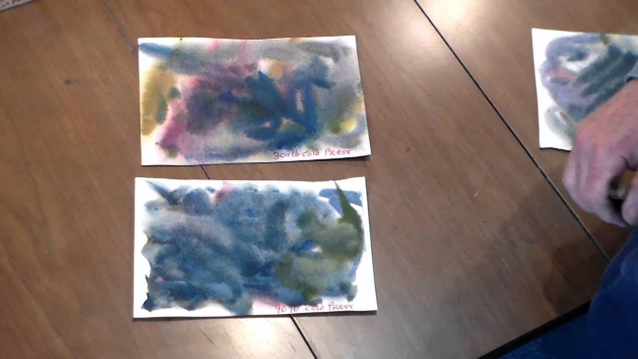 how to choose the best watercolor paper for your painting youtube