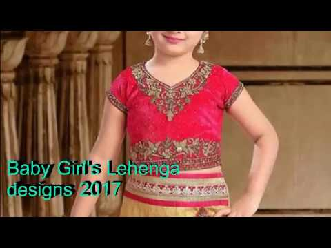 2a17ab3e74 Baby Girl's Lehenga designs 2017   Indian kids lehenga choli - YouTube