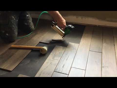 How to nail down engineered flooring over an OSB subfloor DIY NC Floor Guys