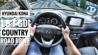 Hyundai Kona 1.6 T-GDI (2019) | POV Country Road Drive