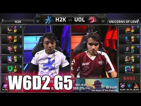 H2K Gaming vs Unicorns of Love   S5 EU LCS Summer 2015 Week 6 Day 2   H2K vs UOL W6D2 G5 Round 2