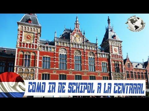Cómo ir de Schiphol a Amsterdam Centraal Station. Holanda 2014
