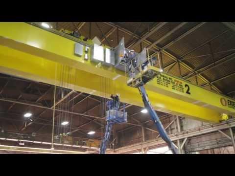 Expert Crane, 30 Ton Crane Install, At Lansing Alro Steel
