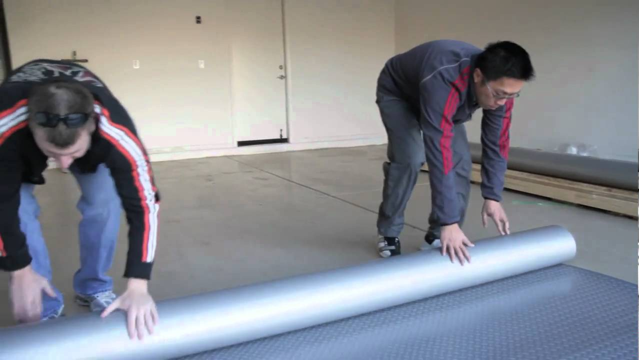How to Install Garage Flooring Rolls  YouTube