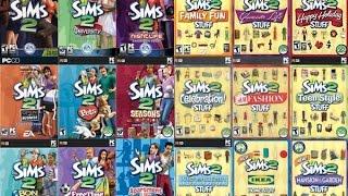 Trailer  De Todas As Expansões E Coleções De Objetos The Sims 2