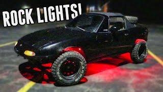 Rally Miata Gets RGB Rock Lights! || Project Rally Miata (Part 7)