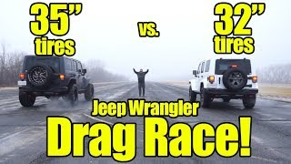 """Video How much slower is a Jeep Wrangler with 35"""" tires vs Stock Tires? Find out with a Prize Fight! download MP3, 3GP, MP4, WEBM, AVI, FLV Oktober 2018"""
