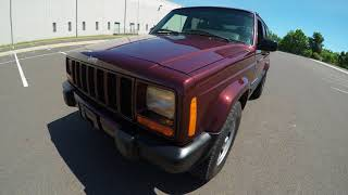 4K Review 2000 Jeep Cherokee Sport XJ 4WD Virtual Test-Drive and Walk around