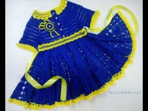 вязаные детские платья крючком 2019 Knitted Baby Dresses Crochet