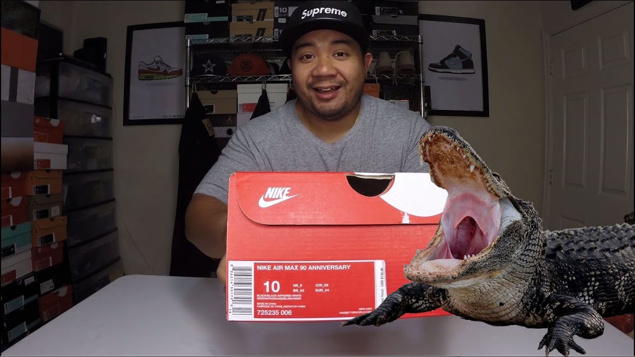 Nike Air Max 90 Croc Review On Feet - YouTube
